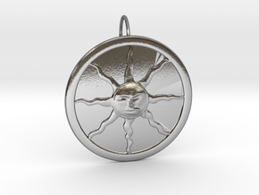 Sunlight Pendant for Large Chains in Polished Silver (Interlocking Parts)