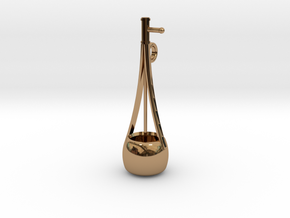 Iktara Pendant(Tribal musical instrument from Indi in Polished Brass