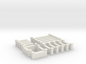 Arabic Brick Wall Sprue  in White Natural Versatile Plastic