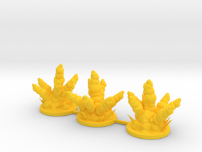 Large Explosion Markers Sprue in Yellow Processed Versatile Plastic