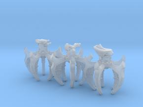 Spider Defense Platforms (3) in Smooth Fine Detail Plastic