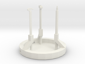 Glorious Workers Monument  in White Natural Versatile Plastic