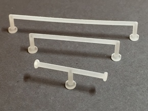 1:12 Towel Rail large in Smooth Fine Detail Plastic