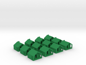 Monopoly Cottages x12 in Green Processed Versatile Plastic