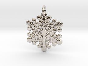 Snowflake Pendant 1 in Platinum