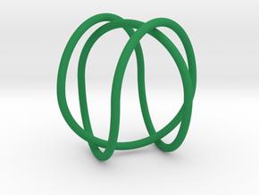2-Butterfly Trefoil in Green Processed Versatile Plastic