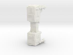 Galactic Empire World Devastator 76mm in White Natural Versatile Plastic