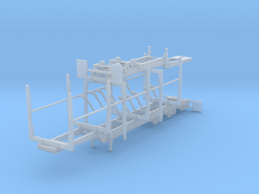 1/50th Super B Log trailer w folding bunks in Smooth Fine Detail Plastic