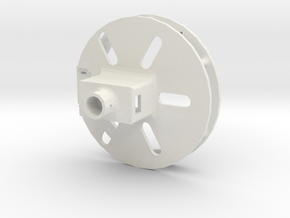 permanent_magnet_gripper_servo_attachment in White Natural Versatile Plastic