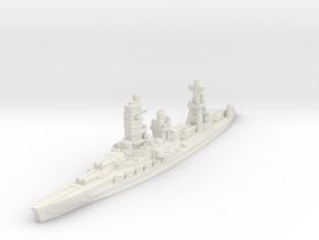 Ise battleship 1/1800 in White Natural Versatile Plastic
