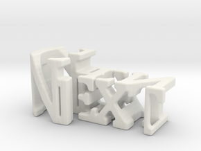 3dWordFlip: Next/Gen in White Natural Versatile Plastic