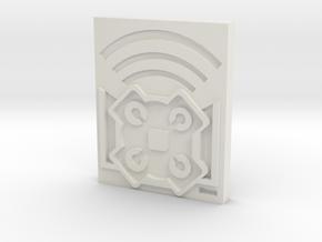 Echo 3 in White Natural Versatile Plastic