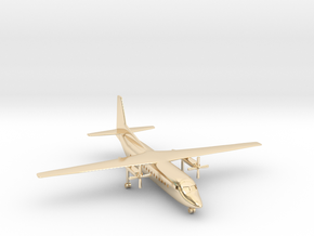 1/500 Fokker F27 Friendship in 14k Gold Plated Brass