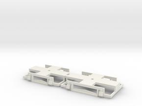 0-76-gcr-petrol-railcar-bogies in White Natural Versatile Plastic