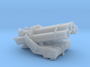 BOFORS SR-375 ASW Rocket Launcher (+pedestal) in Smooth Fine Detail Plastic: 1:96