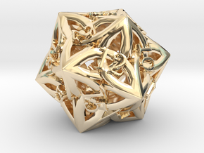 Celtic D20 - small (18mm) in 14K Yellow Gold