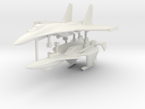 1/200 Sukhoi Su-33 (x2) in White Natural Versatile Plastic
