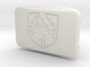 Pontiac Fiero Taillight Screw Cover - Fiero Emblem in White Natural Versatile Plastic