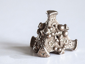 Aladdins Dice in Polished Bronzed Silver Steel