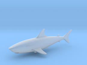 HO Scale shark in Smooth Fine Detail Plastic