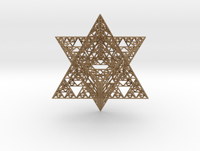 Sierpinski Merkaba III, Hollow (downloadable) in Natural Brass