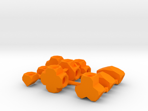 Compound Sockets Sprue Small Scale in Orange Processed Versatile Plastic
