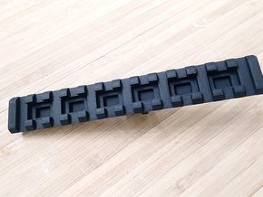 Bottom Rail for AUG Foregrip Attachment (13-Slots) in Black Natural Versatile Plastic
