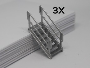HO 3x Stairs #7 in Smooth Fine Detail Plastic