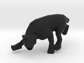 LowPoly Pantera in Black Natural Versatile Plastic