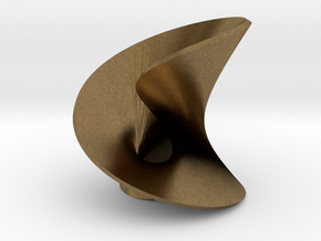 Abstact mobius leaf in Natural Bronze: Extra Small