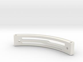 HFP-101044 Quadrant Plate in White Natural Versatile Plastic