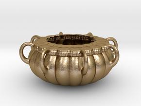 Vase 016 in Polished Gold Steel