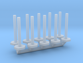 Stanchion Tube Barricade 1-50 Scale in Smooth Fine Detail Plastic