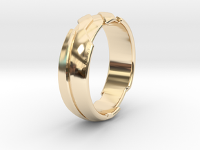 GD Ring - Edge in 14K Yellow Gold: 1.5 / 40.5