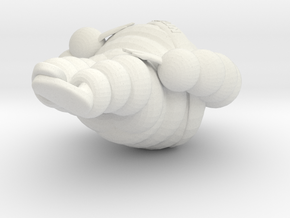 Michelin man 1/8 in White Natural Versatile Plastic