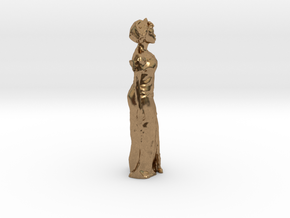 African Woman Necklace / room decoration in Natural Brass: Small