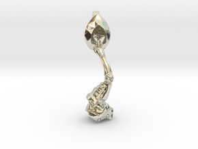 Artificial hand and Stone in 14k White Gold