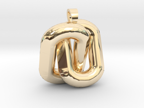 Two interlaced links  [pendant] in 14K Yellow Gold