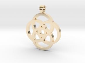 Rosette [pendant] in 14K Yellow Gold