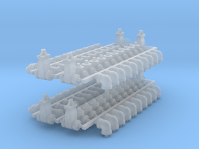 """1:48 - 4"""" Pipe Fittings - 88 pcs in Smoothest Fine Detail Plastic"""