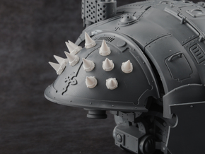 Studs - Riveted Spikes (20pc) in Smoothest Fine Detail Plastic