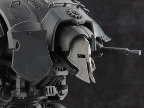 Spartan Knight - Face Plate in Smooth Fine Detail Plastic