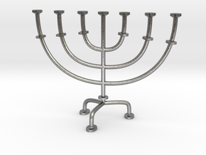 Menorah chandelier 1:12 scale model V2 in Natural Silver