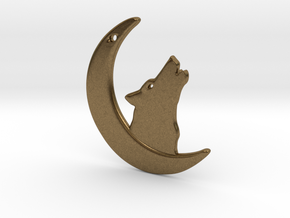 WolfMoon Earring in Natural Bronze