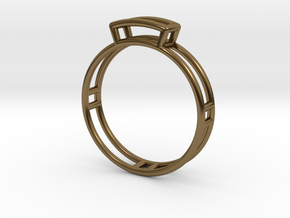 GEM Ring  in Polished Bronze: Small