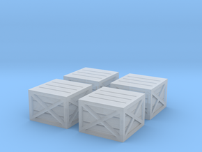 N Scale Wooden Crates in Smooth Fine Detail Plastic: 1:160 - N
