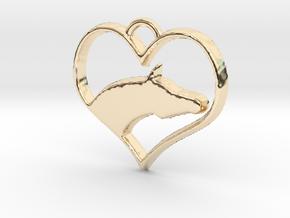 Arabian Horse Heart in 14K Yellow Gold