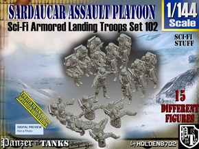 1/144 Sci-Fi Sardaucar Platoon Set 102 in Smooth Fine Detail Plastic