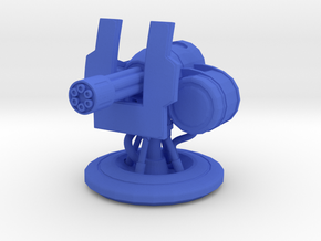 Minigun Turret for Gasland in Blue Processed Versatile Plastic