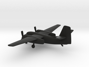 Grumman S2-F Tracker in Black Natural Versatile Plastic: 1:200
